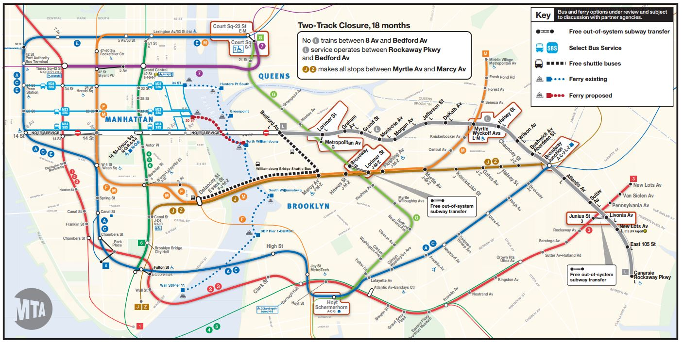 Alternative Nyc Subway Map.L Train Alternative Rethink Studio
